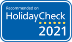 Recommended Holidaycheck 2020 score 5.4 out 6