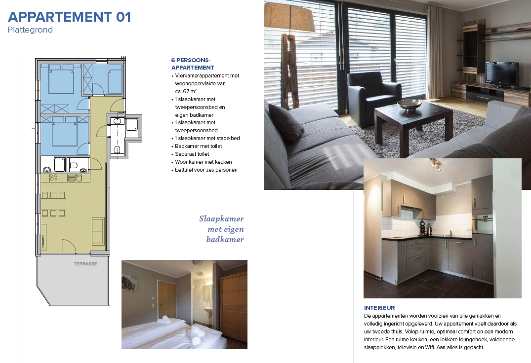 Example of one of the new apartments